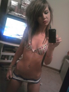 Amazing homemade selfshot picture with gorgeous teen lingerie.