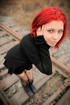 Beautiful punk redhead.