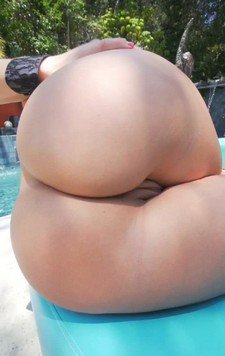 Beautiful ass and pussy sunbathing alone waiting for huge cock.