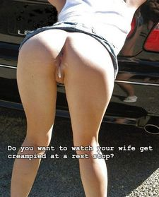 Do you want to watch your wife get creampied at a rest stop
