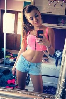 Selfie perfect girl body teen