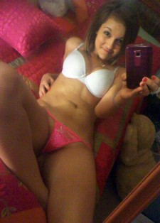 Perverse teen selfshot her big handsome boobs and great body