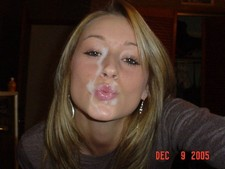Awesome cum in the face pic featuring amazing teen.