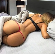 Sexy blonde booty in this hot thong pic.